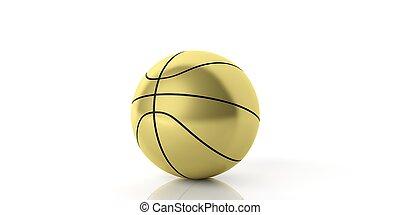 3d rendering basketball on white background