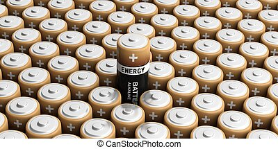 3d rendering batteries background