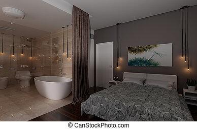 3D Rendering Bedroom Interior