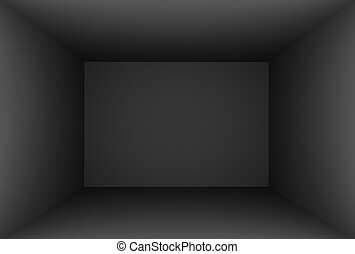 3D Rendering Black Empty Room