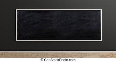 3d rendering blackboard on black background