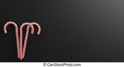 3d rendering candy canes