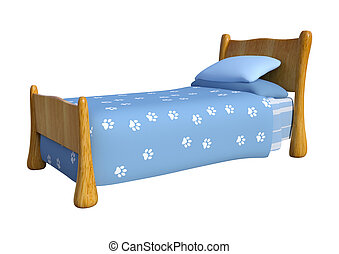 3D Rendering Childs Bed on White