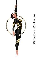 3D Rendering Circus Performer on White - 3D rendering of a ...