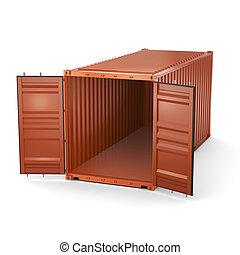 3D rendering container - 3D rendering the ship a container ...