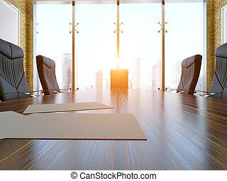 3d-rendering, de, el, interior
