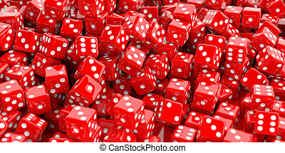 3d rendering dice background