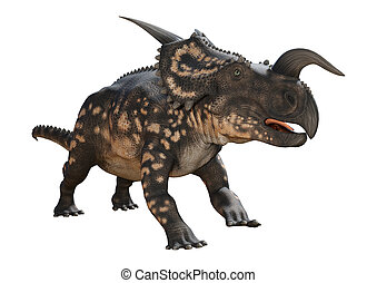 3D Rendering Dinosaur Einiosaurus on White