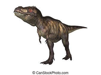 3D Rendering Dinosaur Tyrannosaurus on White - 3D rendering...