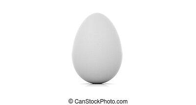 3d rendering egg on white background