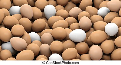 3d rendering eggs background