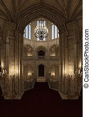 3D Rendering Fairy Tale Castle