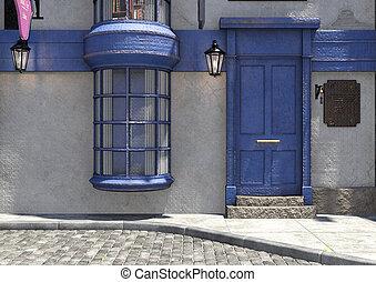 3D Rendering Fantasy Medieval Street