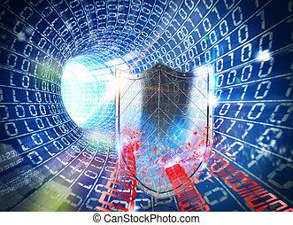 3D rendering firewall internet