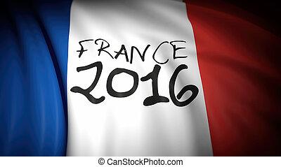 3d rendering Flag of France