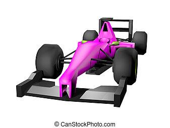 3D rendering formula car