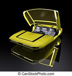 3D rendering futuristic vehicle