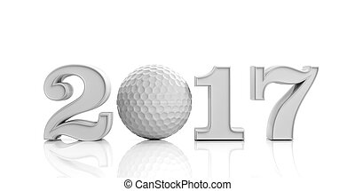 3d rendering golf ball 2017
