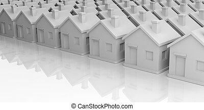3d rendering houses complex