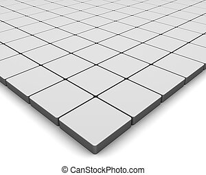 blank tiles - 3d rendering illustration, blank tiles on...