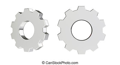 3d rendering illustration of the gear