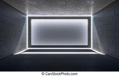 empty concrete room