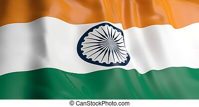 3d rendering India flag
