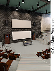 3D Rendering Lecture Hall