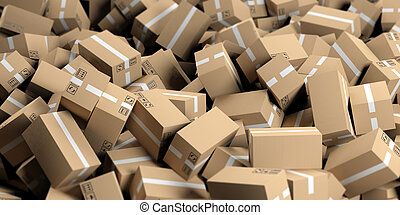 3d rendering moving boxes background