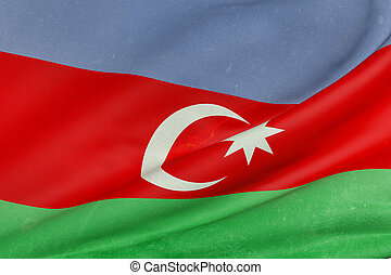 3d rendering of a Azerbaijan flag