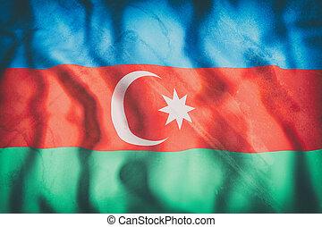3d rendering of a Azerbaijan flag