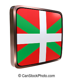 Basque Country Community flag - 3d rendering of a Basque...