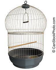 3D rendering of a birdcage