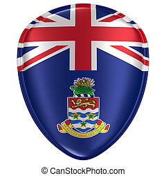 3d rendering of a Cayman Islands flag icon.