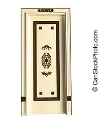 3D rendering of a classic door