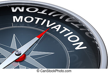 motivation - 3D rendering of a compass with a motivation ...