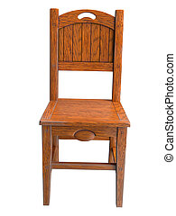 3D rendering of a country chair