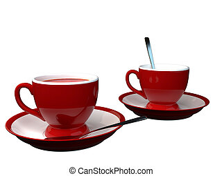3D rendering of a cup