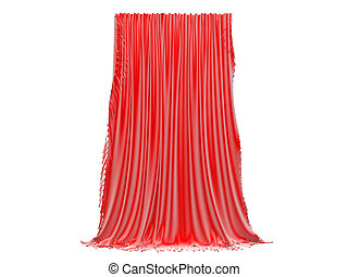 3D rendering of a curtain