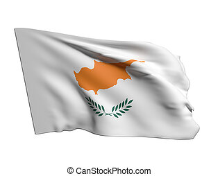 3d rendering of a Cyprus flag
