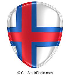 3d rendering of a Faroe Islands flag icon.