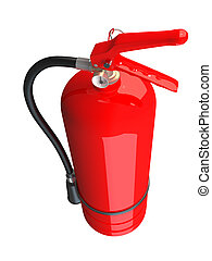 3D rendering of a fire extinguisher
