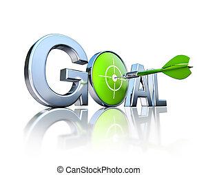 goal - 3D rendering of a goal concept