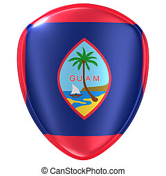 3d rendering of a Guam flag icon.