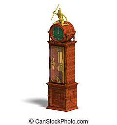 historic clock of louis xv.