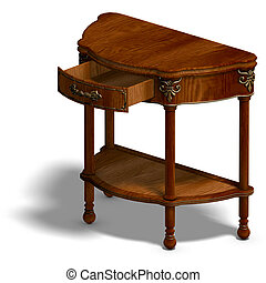 historic coffee table of louis XV. - 3D rendering of a...