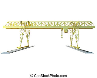 3D rendering of a hoisting crane