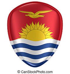 3d rendering of a Kiribati flag icon.