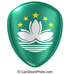 3d rendering of a Macau flag icon.