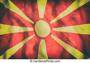 3d rendering of a Macedonia flag waving
